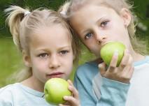 děti, dvojčata, holčičky, sestra, bezstarostnost, dětství,  zdravý životní styl