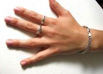 prsty, nehet, ruka, žena, dotyk