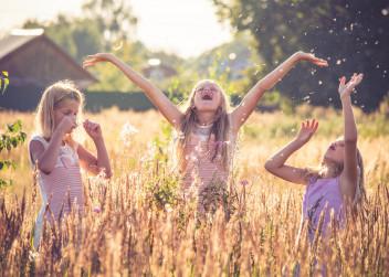 děti, astma, radost