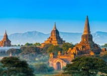 Asie, příroda, chrám