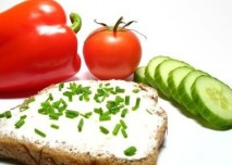 Mléko,tvaroh,pažitka,zelenina,rajče,paprika,dieta,okurka