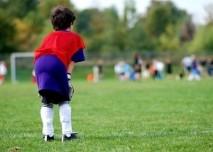 Dítě, sport, fotbal, pohyb, tráva