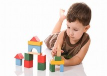 dítě, stavebnice
