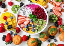 jídlo, kaše, mango, zdravá strava