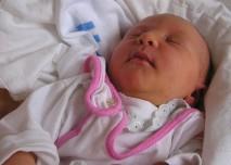 novorozenec, dítě, holčička