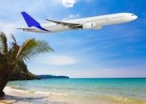cestování, letadlo, dovolena