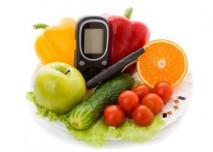 zdravé potraviny a inzulinové pero