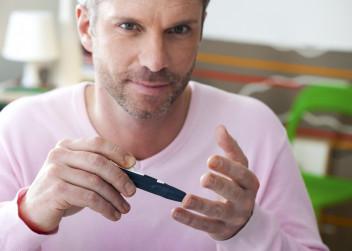 cukrovka, muž, inzulinové pero