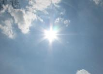 slunce, nebe, mraky, oblaka