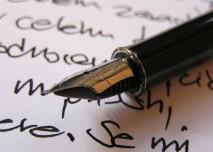písmo, pero, inkoust,psaní